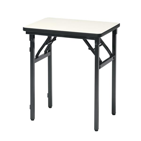折畳みテーブル アイボリー 幅600×奥行450×高さ700mm  【国産】【L-1】