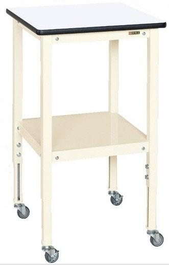 サポートテーブル 高さ調整タイプ キャスター付き W500D×500×H720~920mm 耐荷重:50kg【TSRT-500RI】