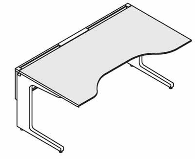 コクヨ レヴィスト デスクシステム パーソナルテーブル ダブルウイングテーブル 幅1400mm【SD-LVW148L】