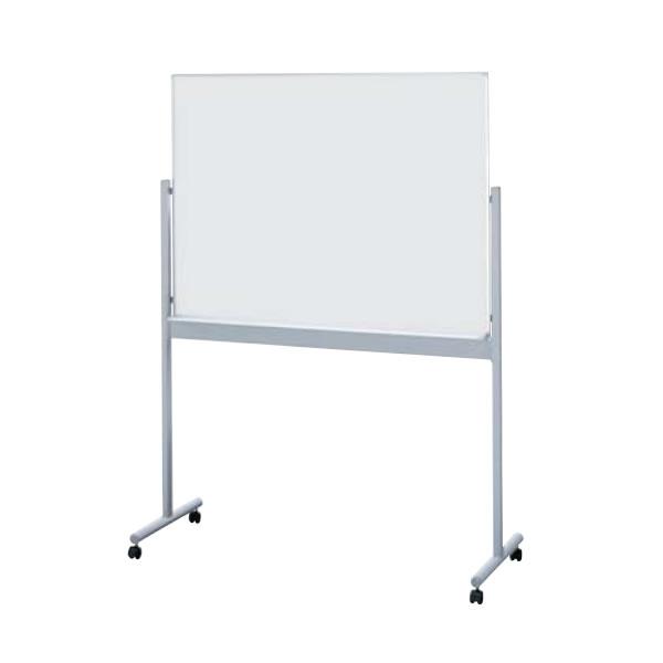ホワイトボード 板面スチールホワイトタイプ 片面黒板 片面ホワイトタイプ 幅1281mm【BBE812】