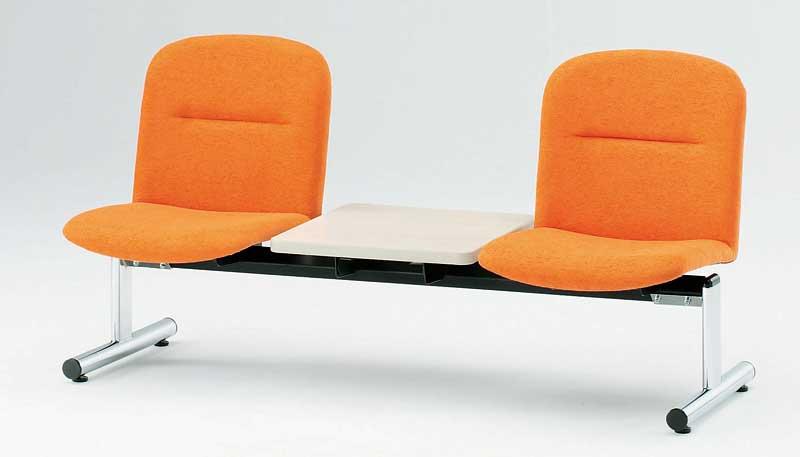 ロビーチェア FSLシリーズ 背付きタイプ ビニールレザー張り 幅1510×奥行き610×高さ750mm【FSL-2TL】