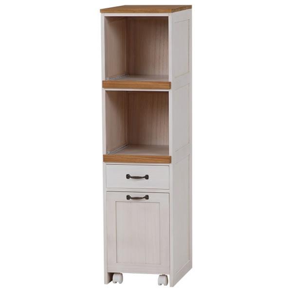 キッチンラック ホワイト 幅30×奥行40×高さ116cm MUD-5901WS【HA-101452700】