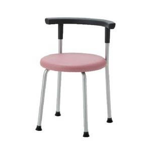 ノーリツイス 丸椅子 座固定背付スツール 座直径400mm 布張り【R-630C】