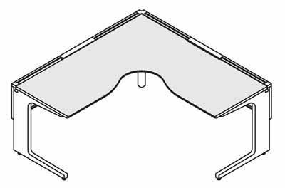 コクヨ レヴィスト デスクシステム パーソナルテーブル L型テーブル L・R共通 幅1800×奥行き1800mm【SD-LVL1818L】