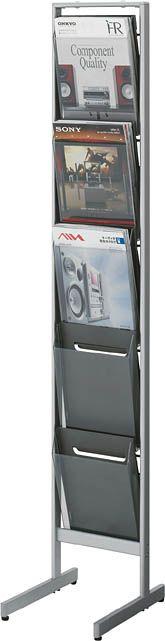 コクヨ パンフレットスタンド A4サイズトレータイプ(片面)厚型1列5段【ZR-PS311】