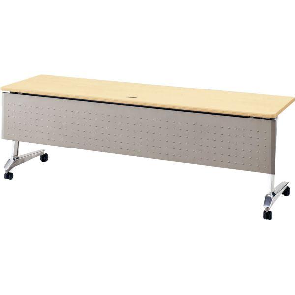 サイドスタックテーブルSA-2160M 幅2100×奥行き600×高さ700mm 幕板付き・コンセント付き【6-164-219】