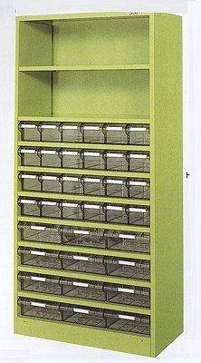 サカエ ハニーケース2 樹脂ボックス グリーン 均等耐荷重:棚板1段当り60kg【HK-36TL】