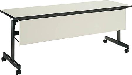 コクヨ 会議 ミーティング用テーブル KT-60シリーズ 天板フラップ式 棚付き パネル付き 幅1500×奥行き450mm【KT-PS62N3】