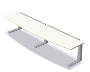 TYPE-L DESK デスク テーブル368R 天板カラー:ホワイトメープル【XL-368R-WM】