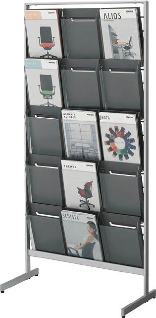 コクヨ パンフレットスタンド A4サイズトレータイプ(片面)厚型3列5段【ZR-PS313】