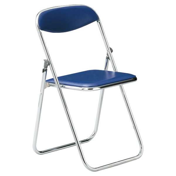 国産折り畳みイス・折りたたみ椅子・パイプイス/直径19.1mmクロームメッキタイプ スライド式【FC-19M-VS2】