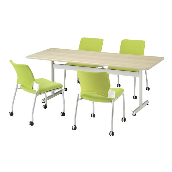 会議用テーブル 角型 幅1200×奥行600mm 塗装脚タイプ 【国産】【AKT-1260】