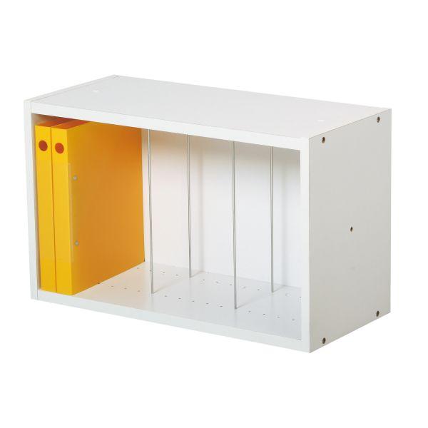 ファイルボックス A4対応 ホワイト 【国産】【KLW-02】