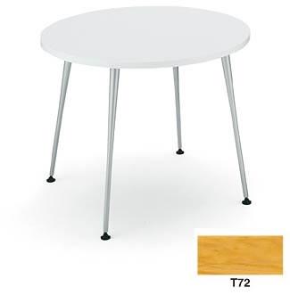 コクヨ イートイン シリーズ テーブル リフレッシュテーブル 4本脚 高さ700mmタイプ 天板寸法 直径750mm 突板 メッキ脚【LT-M345T72】