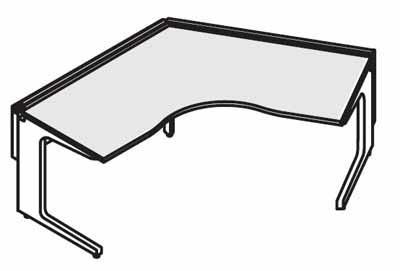 コクヨ レヴィスト デスクシステム パーソナルテーブル ブーメランテーブル 120度 幅1200mm【SD-LVZ1212】