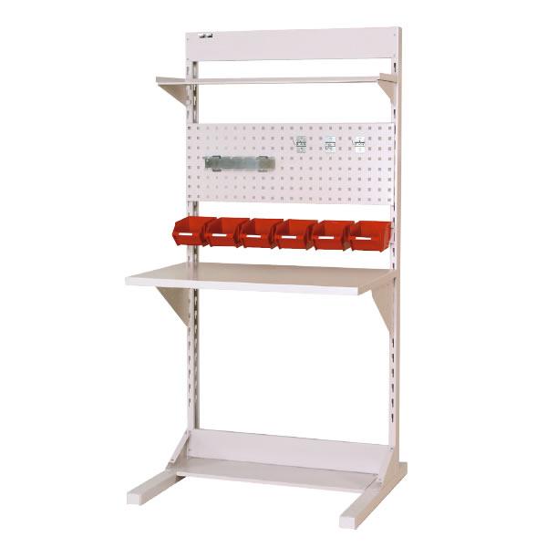 ラインテーブル 間口900サイズ 基本タイプ 片面用 幅893×奥行き825×高さ1885mm【YAMA-HRK-0918-TPY】
