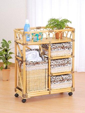 Laundry box 籐ランドリーボックス【I-E-97】