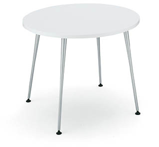 コクヨ イートイン シリーズ テーブル リフレッシュテーブル 4本脚 高さ700mmタイプ 天板寸法 直径900mm メラミン化粧板 メッキ脚【LT-M346】