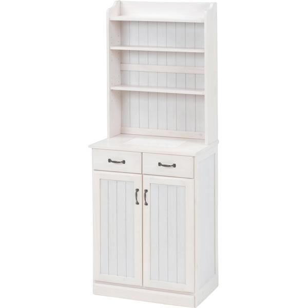 キッチンカウンター ホワイト 幅59cm MUD-6532WS【HA-101391200】
