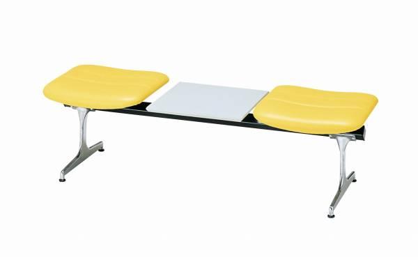 ロビーチェア 2人掛け+テーブル 合成皮革張り 【国産】【RD-42(合成皮革)】