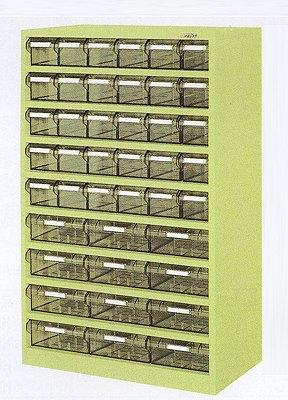 サカエ ハニーケース2 樹脂ボックス グリーン 均等耐荷重:棚板1段当り60kg【HK-42L】