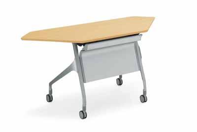コクヨ 会議用テーブル エピファイ 会議用テーブル 天板フラップ式 配線キャップなし パネルなし コーナータイプ 幅1335×奥行き450×高さ720mm【KT-C1000】