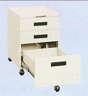 サカエ NW キャビネットワゴン 均等耐荷重:130kg【NW-3CB】