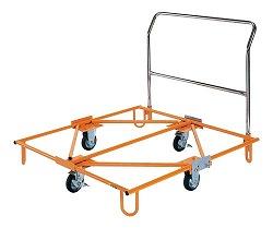 樹脂パレット台車 取手付 幅1245×奥行き1105×高さ893mm 均等耐荷重:450kg【SC-110T】