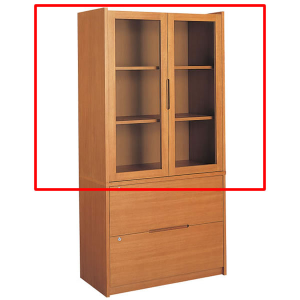 コクヨ 役員室用家具 マネージメント30シリーズ 両開き書棚(上置き) カラー(ローズウッド)【MG-3GURN3】