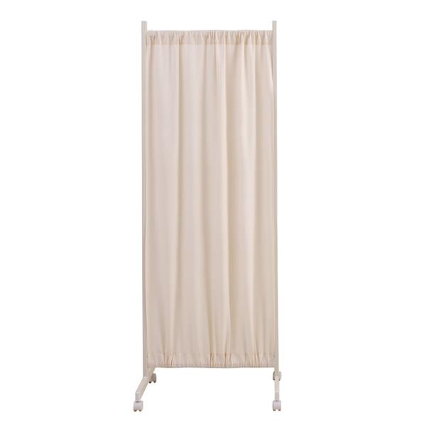 間仕切りカーテンパーテーション 幅64.5~115cm 高さ180.5cm ホワイト色【NSA-NJ-0101】