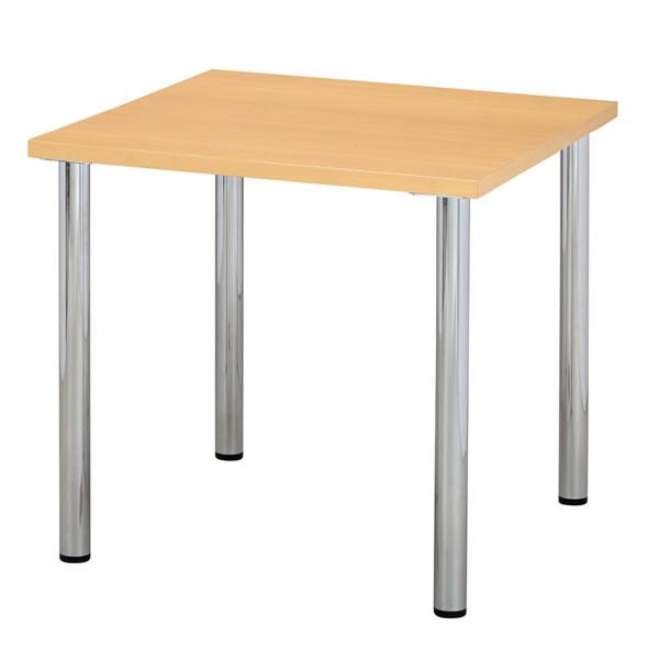 ミーティングテーブル 幅900×奥行900mm 天板エッジ:ソフトエッジ ナチュラル 【国産】【YMT-9090SE-NA】