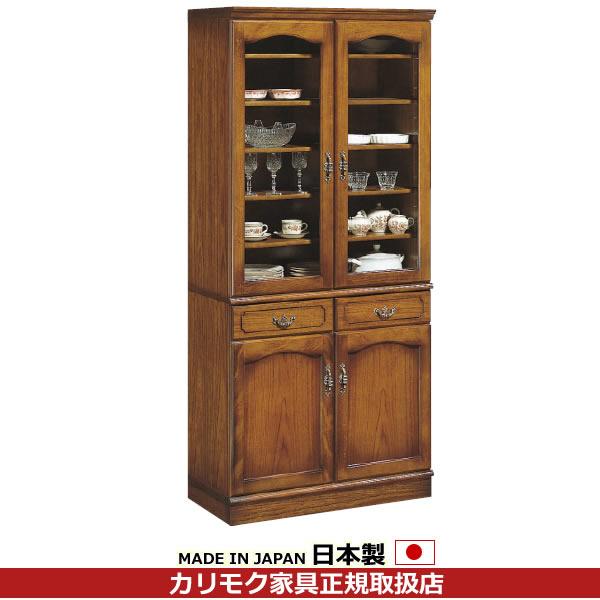 カリモク 食器棚・ダイニングボード/コロニアル 食器棚 幅878mm【EC3080NK】
