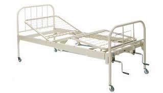 コクヨ 病棟 病院用ベッド 2クランクギャッチベッド 背上げ・脚上げ機能付き キャスター付き 床高調整機能付きタイプ【HP-B1220HF1】