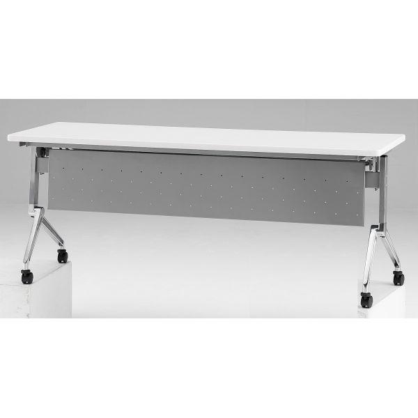 フォールディングテーブル パネル付き 幅1800mm×奥行600mm×高さ720mm【NAN-1860P】