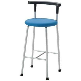 ノーリツイス 丸椅子 座固定背付スツール 座直径400mm 布張り【R-640C】