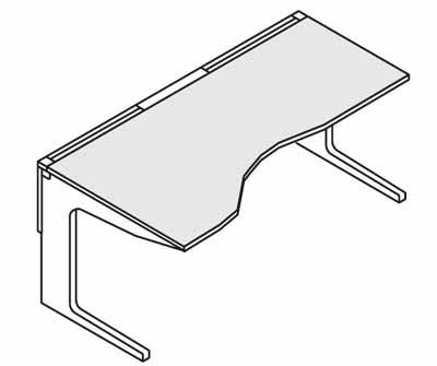 コクヨ レヴィスト デスクシステム パーソナルテーブル サイドウイングテーブル L側 幅1600mm【SD-LVWL169L】
