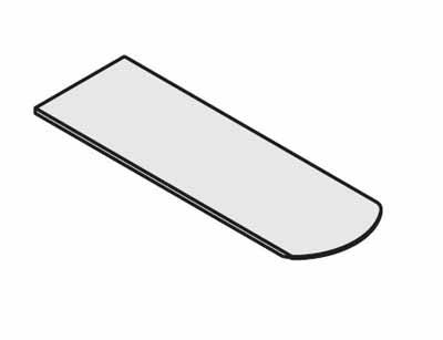 コクヨ レヴィスト デスクシステム 拾い出しパーツ ミーティング用サイドテーブル天板【SDT-LV165SR】