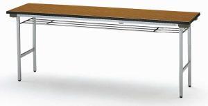 【軽量アルミ脚タイプ】 折り畳みテーブル【棚付】 幅1800mm×奥行600mm×高さ700mm【TFA-1860SE】