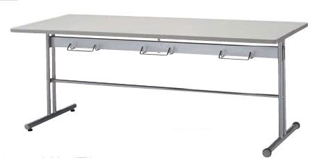 食堂用テーブル KGM型 キャスター付 幅1500×奥行き800mm【KGM1580MC-WS】
