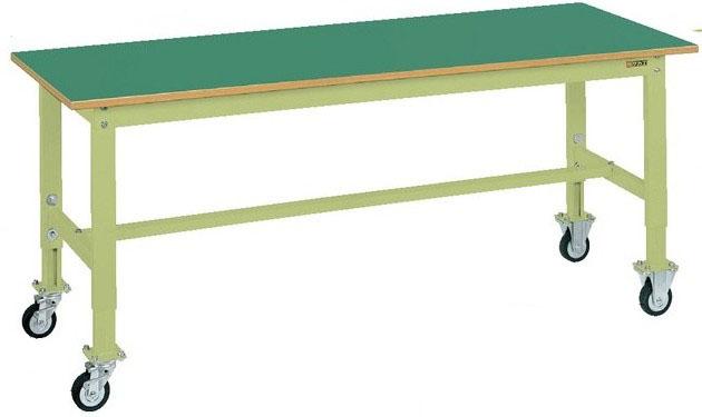 軽量高さ調整作業台TKKタイプ 移動式 W1800×D750×H725~925mm 耐荷重:200kg サカエリューム天板【TKK6-187FC】