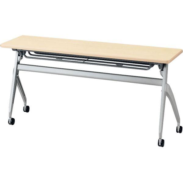 平行スタックテーブルSH-1845C 幅1800×奥行き450×高さ700mm 幕板無し・コンセント付き【6-165-206】