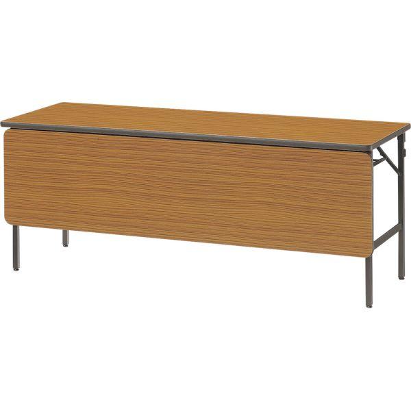 折畳みテーブル FP-60-T チーク 幕板付き 幅1800×奥行き600×高さ700mm【1-385-1107】