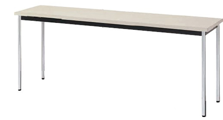 会議用テーブル KM型 幅1500×奥行き450mm 棚付なし【KM1545】