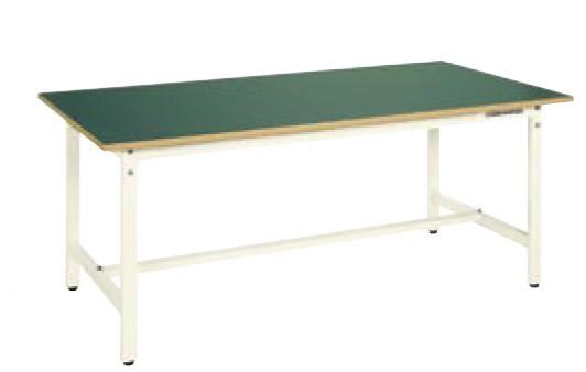 サカエ CK 軽量作業台 天板:グリーン 本体:アイボリー 均等耐荷重:300kg【CK-186FIG】