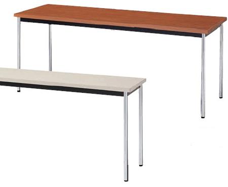 送料無料 買取 会議用テーブル KM型 KM1860 棚付なし 返品不可 幅1800×奥行き600mm