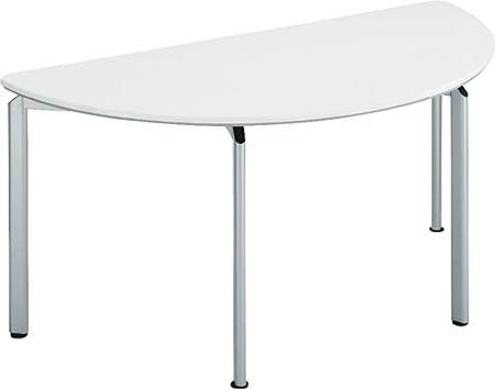 コクヨ 会議 ミーティング用テーブル カリブ スチール脚 塗装天板 半円 幅1800×奥行き900mm【MT-187N】