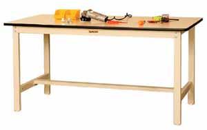 ワークテーブル 500シリーズ 固定式高さ900mm リノリューム天板 幅900×奥行き750×高さ900mm【YAMA-SJRH-975】