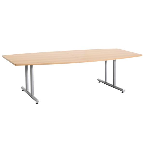 ミーティングテーブル・会議テーブル/ DWSテーブル 【ボート形・幅2400×奥行き1200mm・天板2分割】【DWS-2412B-M1】