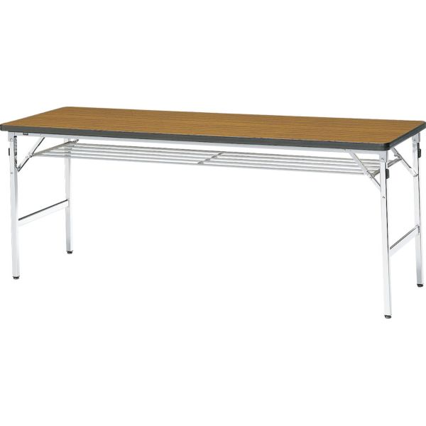 ミーティングテーブル 60M チーク 幅1800×奥行き600×高さ700mm【1-385-1062】