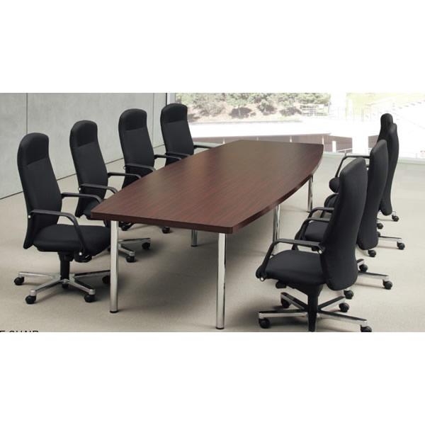 ミーティングテーブル・会議テーブル/ DXMテーブル 【ボート形・幅3600×奥行き1200mm・天板2分割】【DXM-3612B-M1】